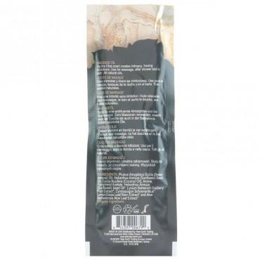 Gode ceinture creux chocolat avec testicules - 18 cm